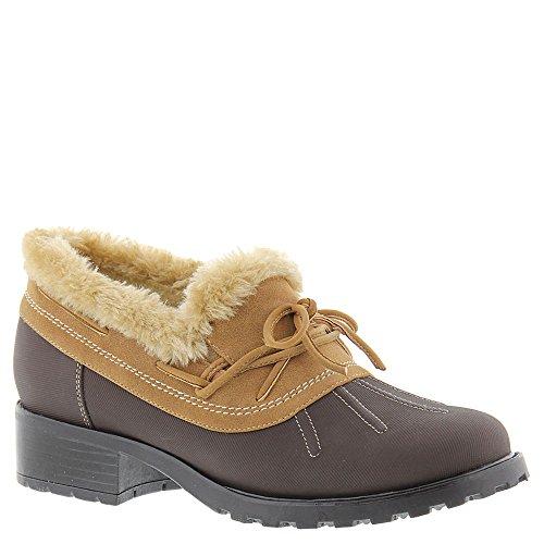 Trotters Womens Brrr Rain Shoe Marrone Scuro Gommato Impermeabile / Nubuck Pu Impermeabile / Eco-pelliccia
