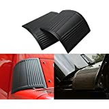 Black Cowl Body Armor Outer Cowling Cover Accessories Pair for Jeep Wrangler JK JKU JL JLU Rubicon Sahara Sport X & Unlimited 2/4 door 2007-2018 (Classic version)