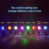 Esonstyle Pack of 10 LED Multicolor Bright Stylish Fashion LED Earrings Glowing Light up Diamond Crown Ear Drop Pendant Stud Stainless