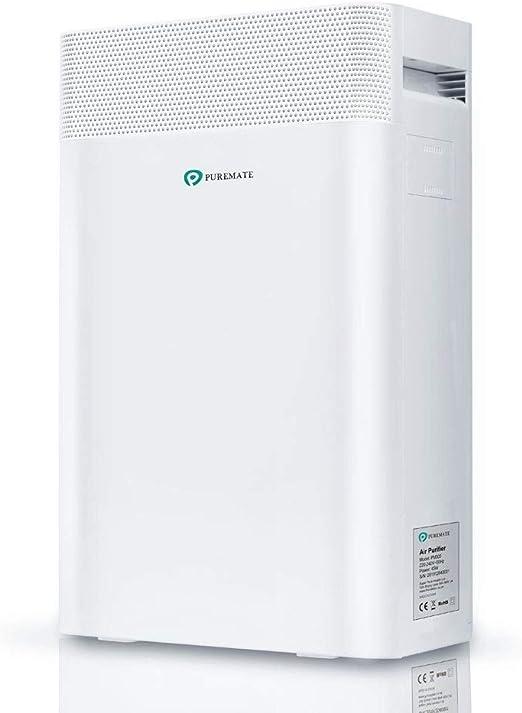 PureMate 5-en-1 Purificador de Aire e Ionizador con Filtro True HEPA, catalizador frío con Filtración de 5 Capas y Función de Temporizador,CADR 210m³,Captura alergias, Polvo, Polen, Humo, Olor: Amazon.es: Hogar