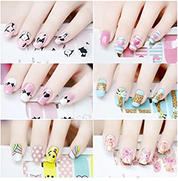 Sankuwen 3D Transfer Lace Design Nail Art Stickers Manicure Nail Polish  Decals (D) *