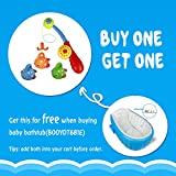 Fajiabao Bath Toy Fishing Game with Cute Floating Fish and Fishing Rod Best Gift for Kids Boys Girls Bathtub Fun Time(Color Vary)