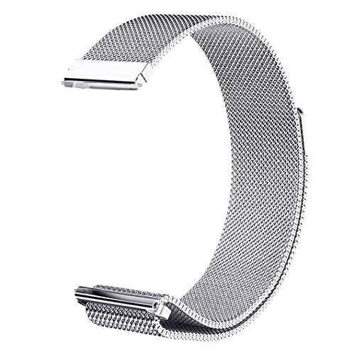 LDFAS Vivoactive 3 Band, 20mm Quick Release Milanese Stainless Steel Metal Watch Strap with Magnetic Closure Clasp Compatible for Garmin Vivoactive 3 / Vivomove HR Smartwatch, Silver