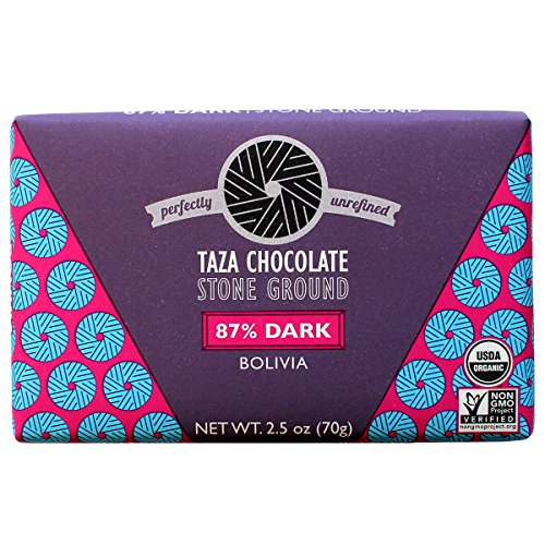 Stone Ground Organic Chocolate (Taza Chocolate Origin Bar, 87% Dark Stone Ground Organic, Bolivia, 3 Ounce (Pack of 10))