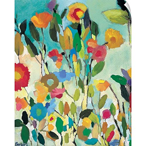 CANVAS ON DEMAND Kim Parker Wall Peel Wall Art Print Entitled Turquoise Garden 16