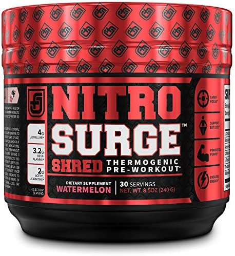 NITROSURGE Shred Pre Workout Supplement product image