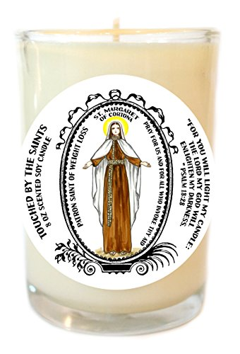 Orthodox Christmas Quotes - Saint Margaret for Weight Loss 8 Oz Scented Soy Glass Prayer Candle