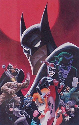 Batman Animated DC Comics Animated Batman Artwork Featuring Batman, Harley Quinn, Poison Ivy, Joker, Batgirl by Bruce Timm Ltd. Matted Print to 8