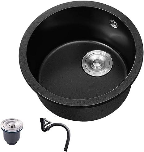 16 5inch single round bowl kitchen sink