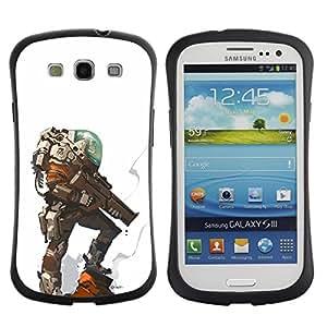 LASTONE PHONE CASE / Suave Silicona Caso Carcasa de Caucho Funda para Samsung Galaxy S3 I9300 / alien planet futuristic character hero