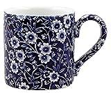 Burleigh Dark Blue Calico Mug 0.3 Litre Blue