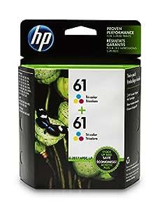 HP 61 Tri-color Ink Cartridge (CH562WN), 2 Ink Cartridges (CZ074FN)