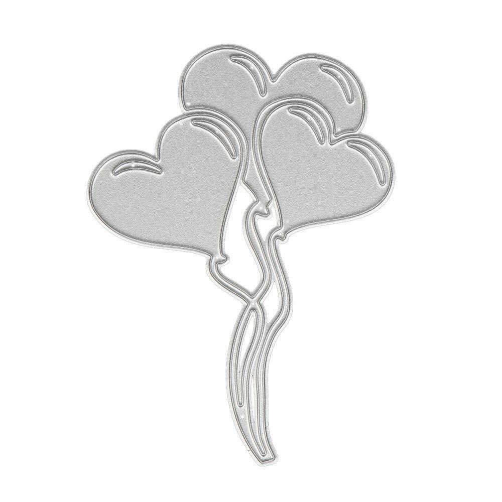 DIPOLA Troqueles Scrapbooking Corazón de Flores Plantillas de Troqueles de Corte de Metal DIY Scrapbooking Album Paper Card &02: Amazon.es: Hogar