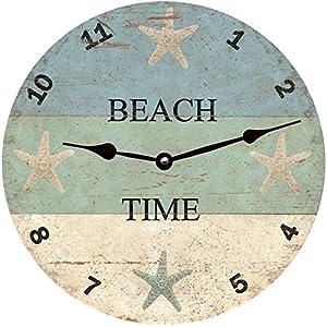 51Fa%2Bop433L._SS300_ Coastal Wall Clocks & Beach Wall Clocks
