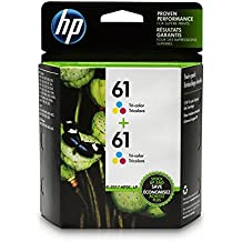 HP CZ074FN#140 61 Tri-color Ink Cartridge (CH562WN), 2 Ink Cartridges