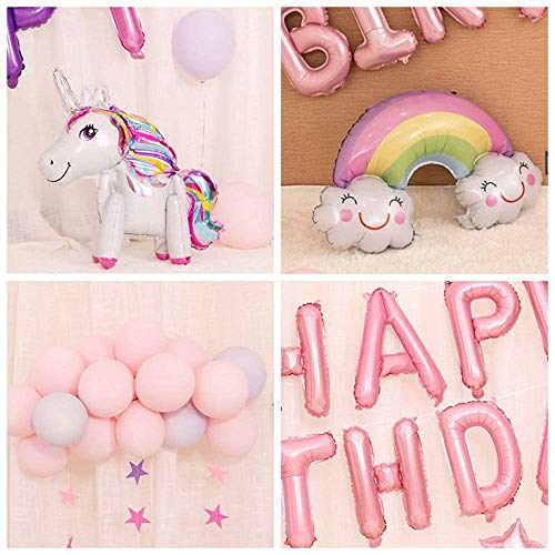Happy birthday banner, toy story birthday party supplies Unicorn Party Decoration for Girl Boy Birthday, birthday decorations, Gold Balloons, Pink & Purple Balloon