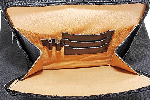 Luxury Italian Leather Ladies stile classico torna Pack zaino borsa portadocumenti Tracolla.Fornita nella pratica custodia protettiva marca Nero Real Distancia Barato Sitios Web En Línea Realmente Barato Nueva Llegada Precio Barato hNmV2KJS