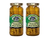 Amish Wedding Foods Pickled Mild Okra 16 oz. Glass Jar ( Pack of 2)