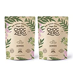 Chocolate with a crunch.               Creamy,  stone-ground dark chocolate and roasted almonds  make for a perfect marriage of flavors for our artisanal dark chocolate almond bark  flavor!. Like all ChocZero products,  it's l...