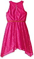 Amy Byer Girls' Lace Dress with Braided ...