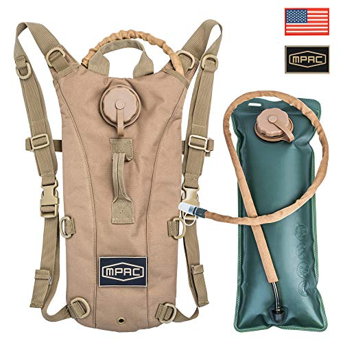 mPac Hydration Backpack Water Bag Pack with FDA Approved 3L BPA Free Bladder for Running Hiking Cycling Camping, Two Patches Included (Best Hydration Pack For Ocr)