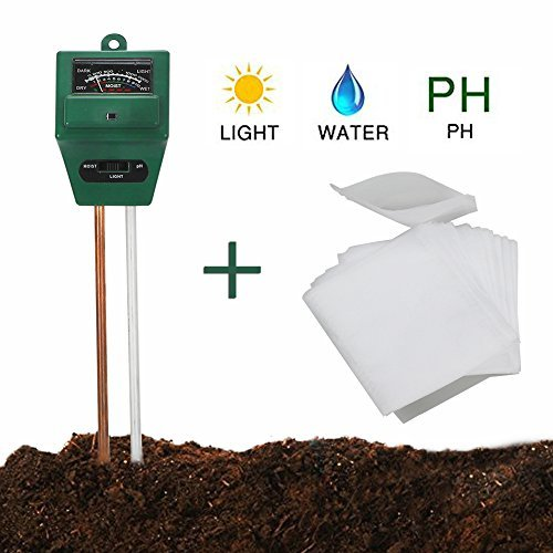AMAZECO Soil Moisture Meter Sunlight PH Acidity 3-in-1 Soil Tester and Biodegradable Non-woven Nursery Bags Plant Grow Bags for Indoor and Outdoor Plants