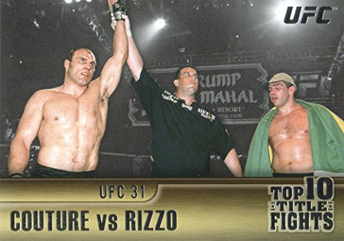 2011 Topps UFC Title Shot Top 10 Title Fights #TT9 Randy Couture/Padro Rizzo