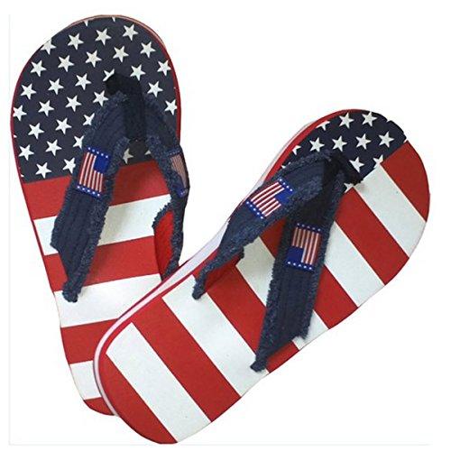 TheFlagShirt Men's American Flag Flip Flop Sandals (13) (Patriotic Usa Flip Flop)