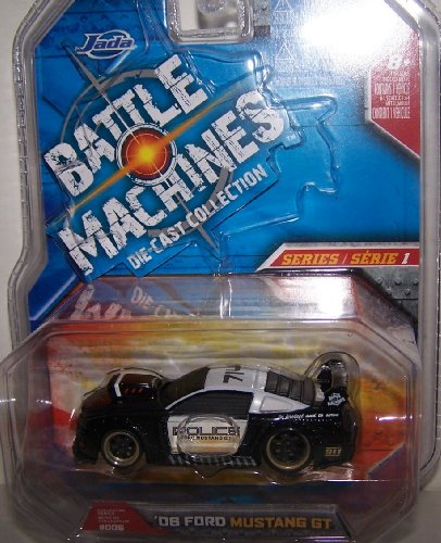 Jada Toys 1/64 Scale Battle Machines Diecast Collection Series 1 2006 Ford Mustang Gt in Color Black and White -
