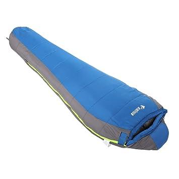 Outad - Saco de dormir momia, 1.8 kg, color azul y gris: Amazon.es: Deportes y aire libre