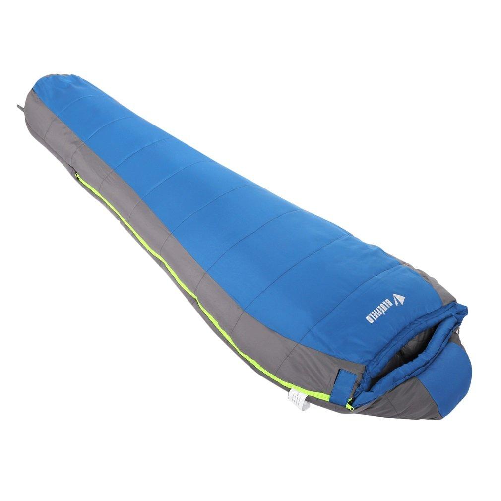 Outad - Saco de dormir momia, 1.8 kg, color azul y gris product image