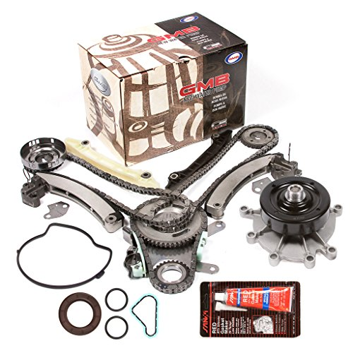 Evergreen TKTCS5037LWP Fits 04-07 Jeep Dodge Mitsubishi 3.7L Timing Chain Kit Water Pump (NGC Cam Gear) Timing Cover Gasket