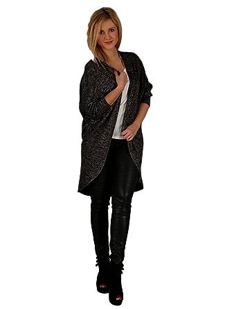 JMTI-Boutique Wolfairy Women s Plus Size Cardigan Quirky Jumper Jacket -  Black 16 c544037169
