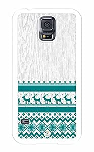 iZERCASE Nordic Pattern on Wood Pattern RUBBER Samsung Galaxy S5 Case - Fits Samsung Galaxy S5 T-Mobile, AT&T, Sprint, Verizon and International BY RANDLE FRICK by heywan