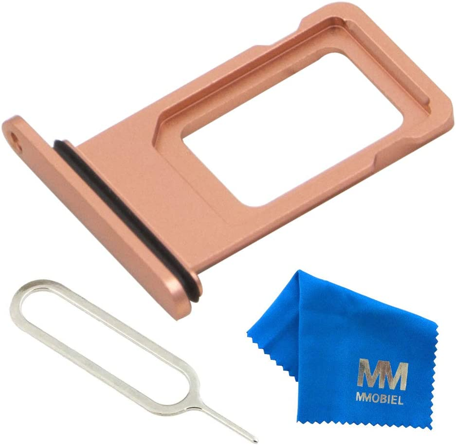 MMOBIEL SIM Card Tray Slot Compatible with iPhone XR (Coral) incl Sim pin