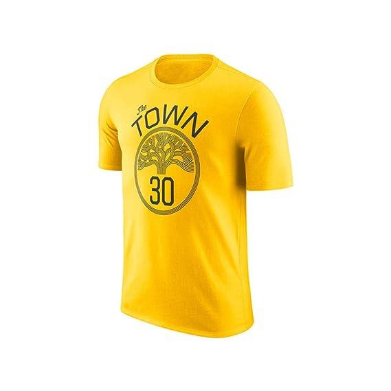 WYNBB Camiseta de Manga Corta No. 30 Curry No. 35 Durant Golden ...
