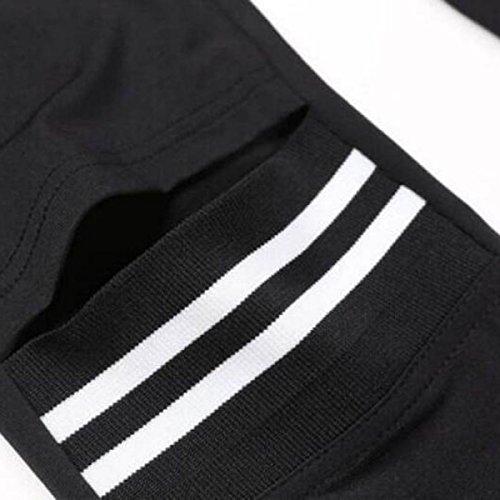 Aumenta 200 Casuale Fang Il Che Legg Grasso Usura Cucita Black Codice Sterline ATOZwRn