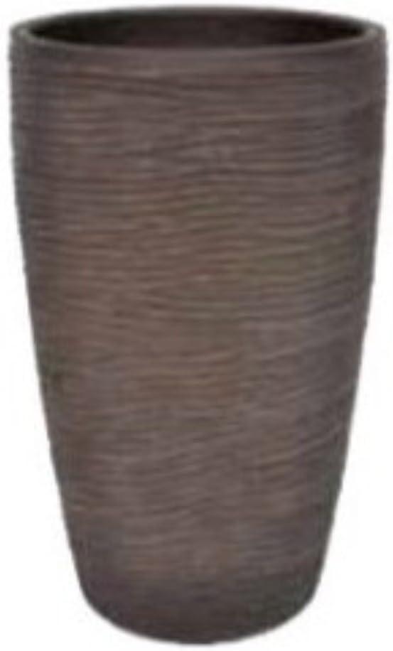 vasar Vaso Portavaso Conchino Rigato Shabby Telcom in Resina Diametro 27cm