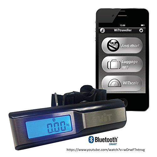 Price comparison product image WiTtraveler Bluetooth Digital Lightweight Luggage Scale for iPhone7 and Samsung Galaxy S7