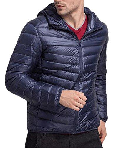 Eku Caldo Piumino Blu Uomini Noi Packable Hoodie Xl Scuro Leggero Puffer wxTnYq6B