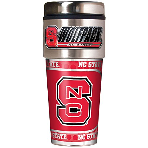 NCAA North Carolina State Wolfpack Metallic Travel Tumbler,  16-Ounce