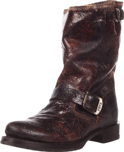 Freak Womens Veronica Short Boot Cioccolato Vintage In Pelle Vintage