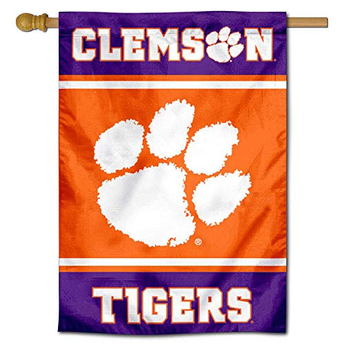Clemson Tigers Two Sided and Double Sided
