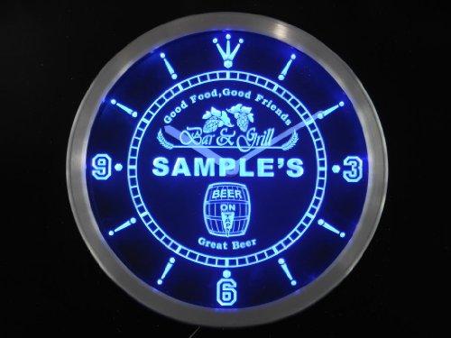 ncpr0259-b FELIX'S Bar & Grill Food Pub Beer Pub LED Neon Sign Wall Clock