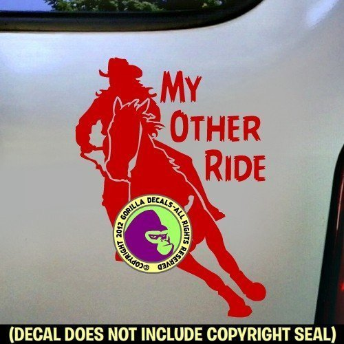 MY OTHER RIDE Barrel Racing Vinyl Decal Sticker C