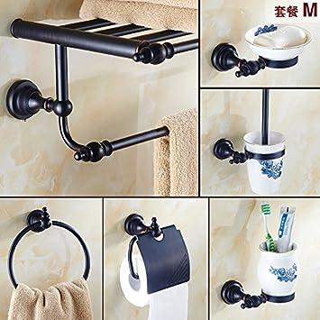 les salles de bains en cuivre noir rétro porte - serviette ...