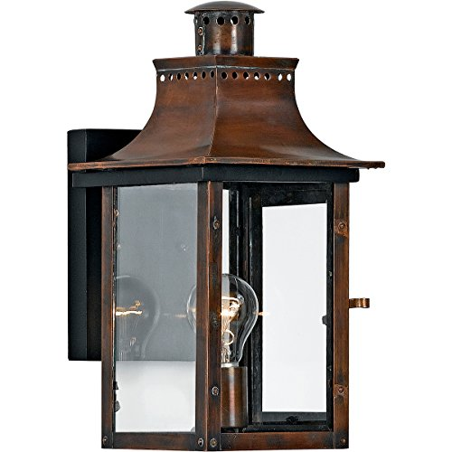 Quoizel 1 Light Chalmers Outdoor Wall Lanterns, Aged Copper - CM8408AC ;HJ#7-545/MKI94 G1499023