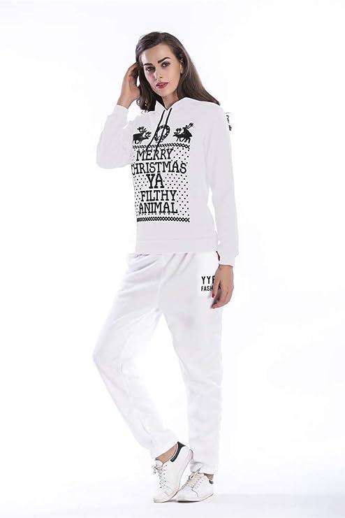 X-xyA Sudadera con Capucha Y Talla Grande para Mujer Pantalones De ...