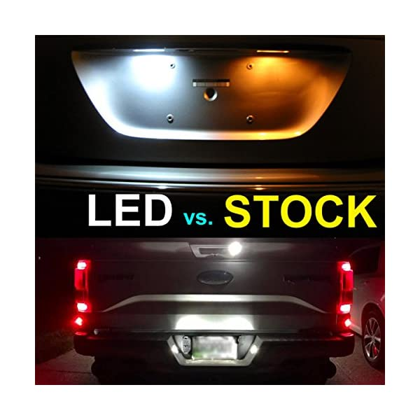 SEALIGHT 194 LED Light Bulb 6000K White Super Bright 168 2825 W5W T10 Wedge LED Replacement Bulbs Error Free For Car Dome Map Door Courtesy License Plate Lights Pack Of 10