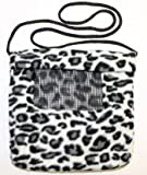 Exotic Nutrition Sugar Glider Carry Pouch w Window (Black White Cheetah)